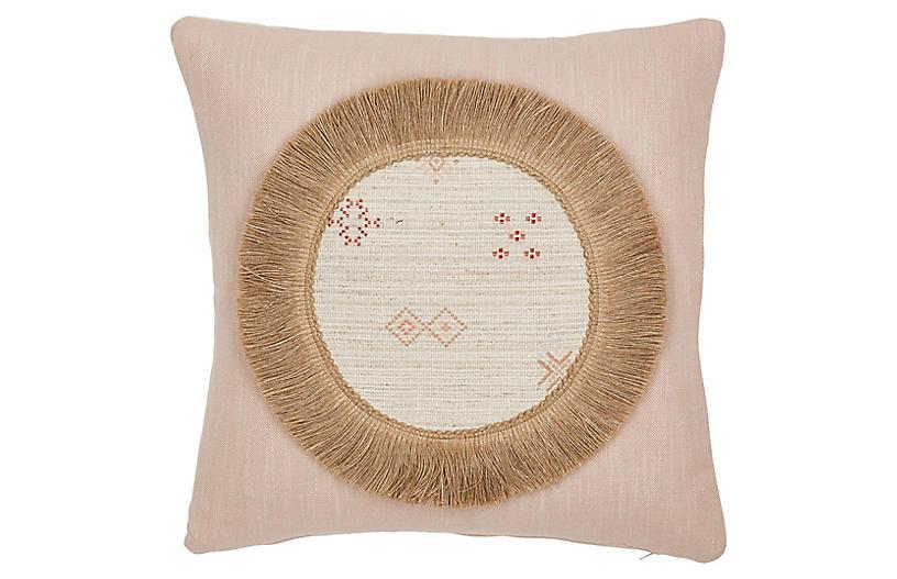 Mae 20x20 Pillow, Pink/Ivory