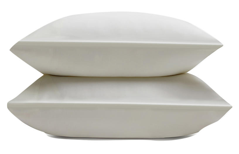 Eucalyptus Pillowcase Set, Ivory