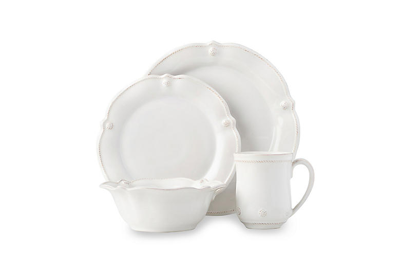 Berry & Thread Whitewash Flared Place Setting