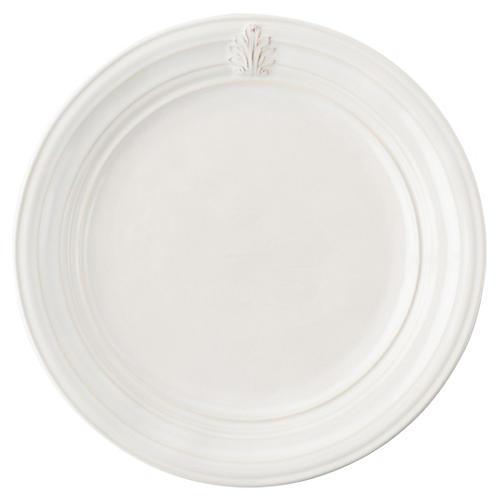 Acanthus Dinner Plate, White