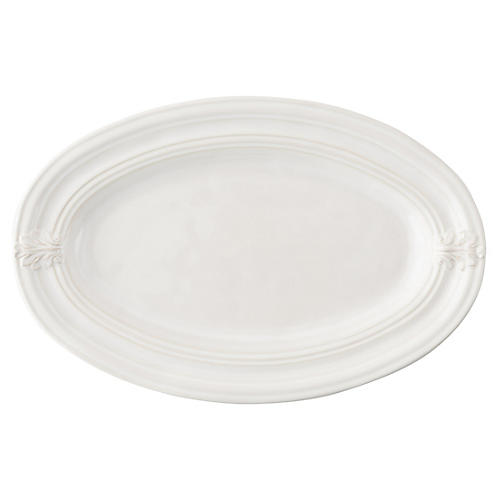 Acanthus Serving Platter, White