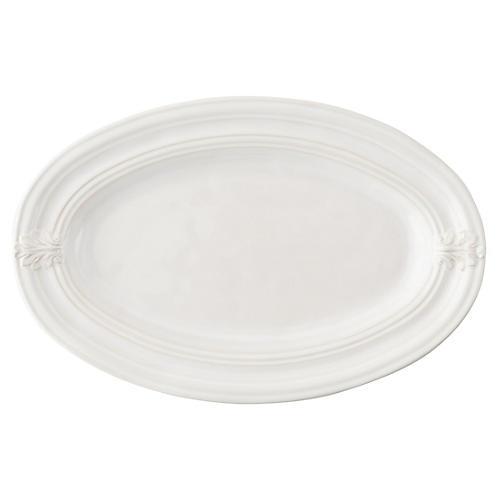 Acanthus Serving Platter, White