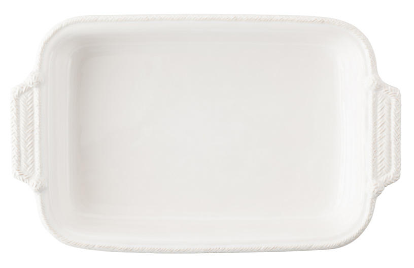 Le Panier Rectangular Baker, White