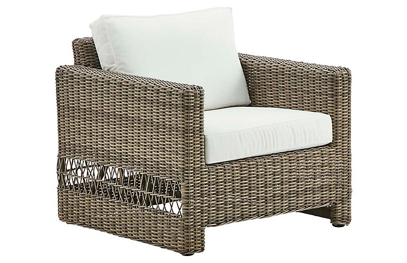 Carrie Outdoor Chair, Antique/White