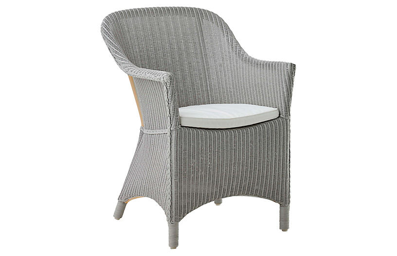 Charlot Chair, Light Gray/Snow White