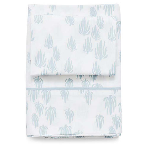 Seaweed Sheet Set, Bay Blue