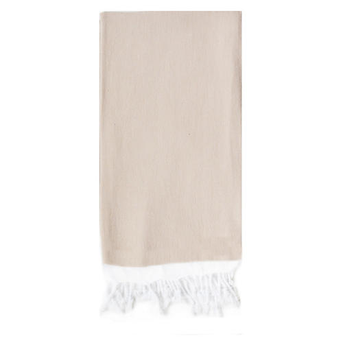 Basic Single-Stripe Towel, Beige