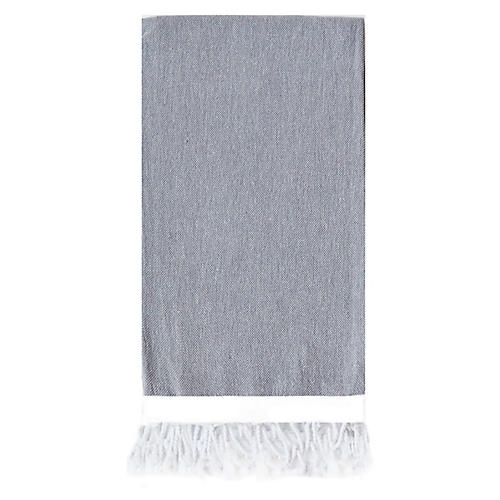 Basic Single-Stripe Towel, Slate