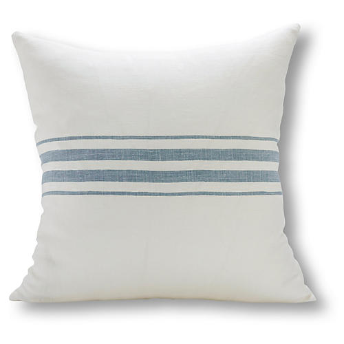 Frenchie Linen Pillow, Ocean