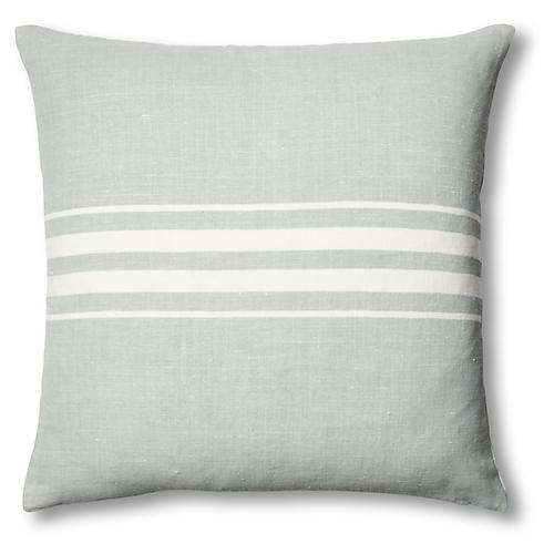 Frenchie Linen Pillow, Mineral