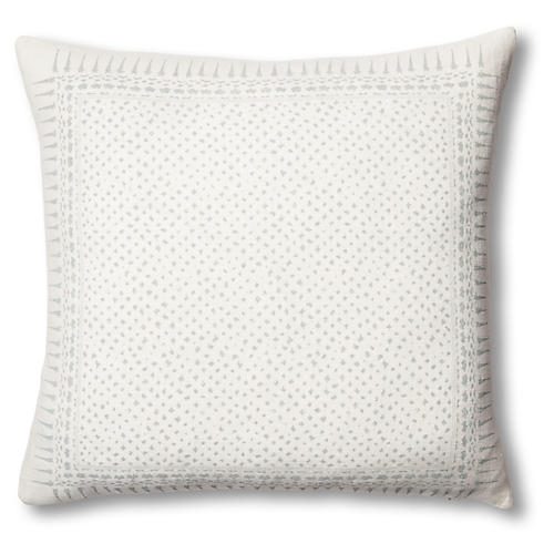 Gracie 22x22 Linen Pillow, Mineral