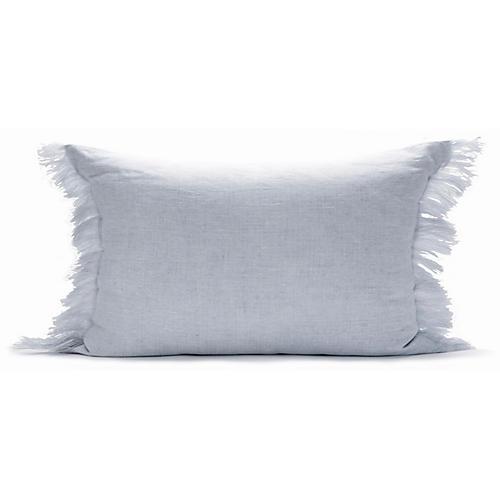 Solid Fringe 12x20 Lumbar Pillow, Dusk