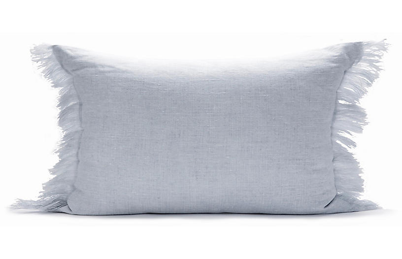 Solid Fringe 12x20 Lumbar Pillow, Dusk