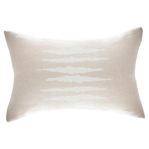 Wild One 17x34 Lumbar Pillow, White
