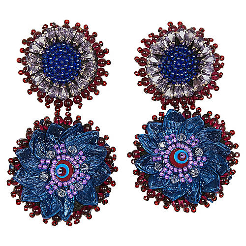 Molly Mini Earrings, Blue