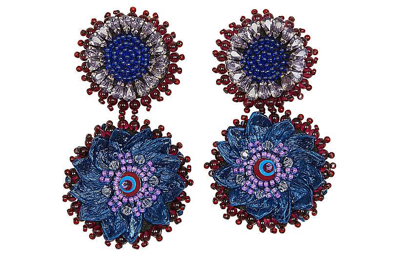 Molly Mini Earrings, Blue