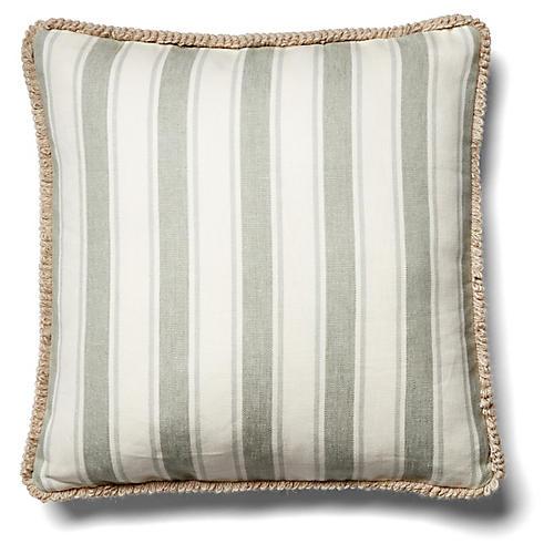 Samia Pillow, Sage Linen