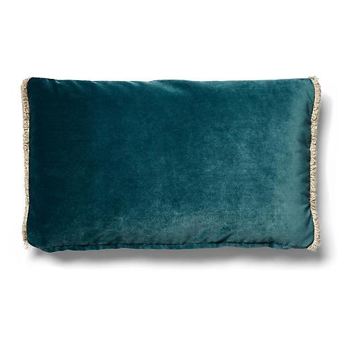 Bali 12x20 Lumbar Pillow, Teal Velvet