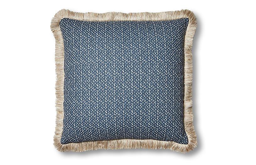 Nika 20x20 Pillow, Indigo/White