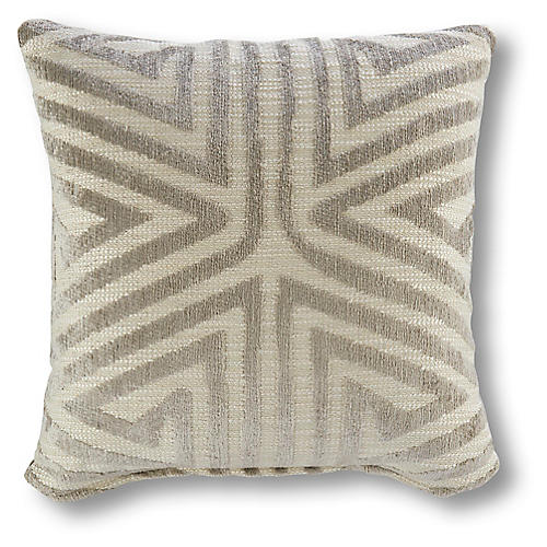 Kismet 20x20 Pillow, Gray/Beige