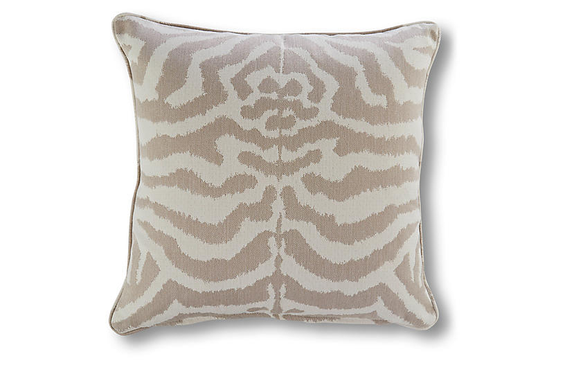 Optical 20x20 Outdoor Pillow, Beige Sunbrella