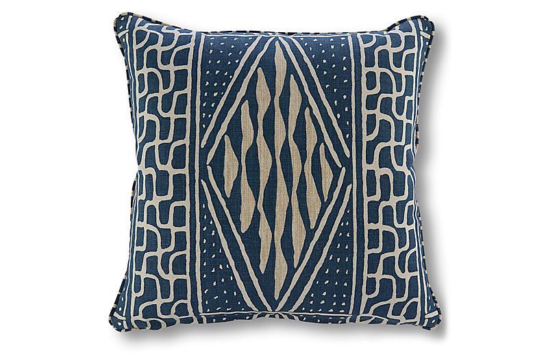 Knox 20x20 Pillow, Indigo Linen