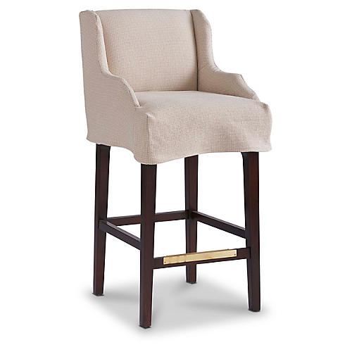 Ansley Slipcover Counter Stool, Sand