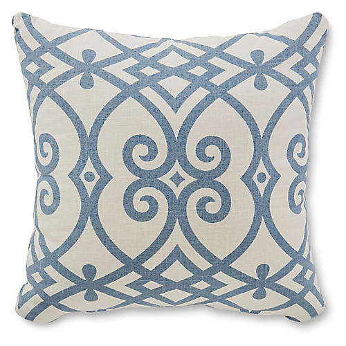 Wells 18x18 Pillow, Blue