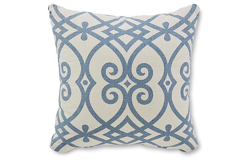 Wells 18x18 Pillow, Blue