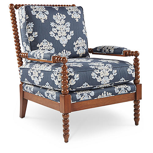 Bankwood Spindle Chair, Indigo
