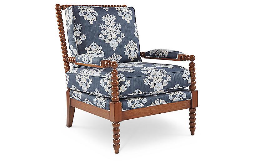 Bankwood Spindle Chair, Indigo