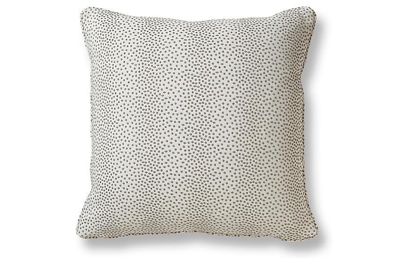 Break 20x20 Pillow, Pewter/White