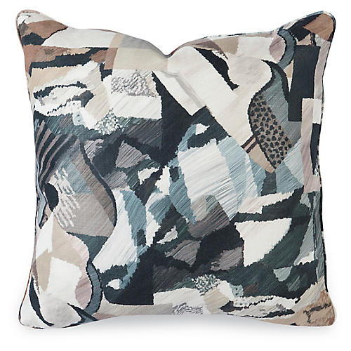 Delia 20x20 Pillow, Onyx Linen
