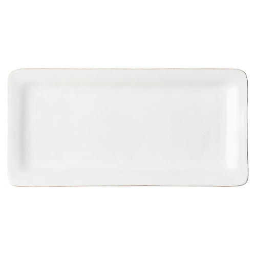 Puro Rectangular Serving Platter, Whitewash