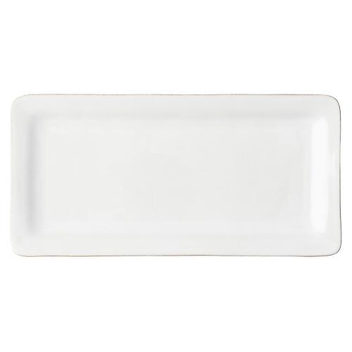 Puro Rectangular Serving Platter, Whitewash