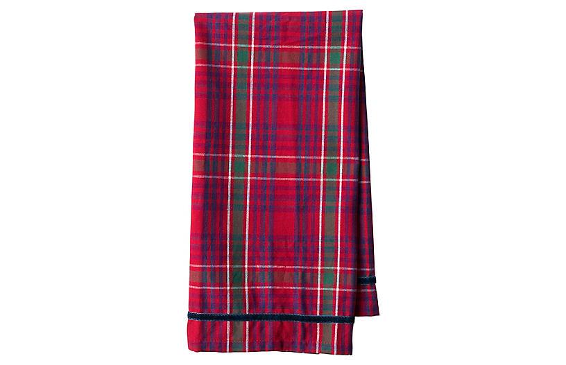 Tartan Tea Towel, Red/Multi
