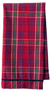 Tartan Tea Towel, Red/Multi