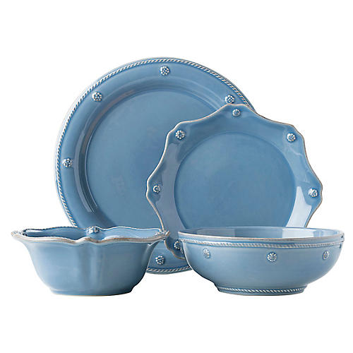 4-Pc Berry & Thread Place Setting, Chambray