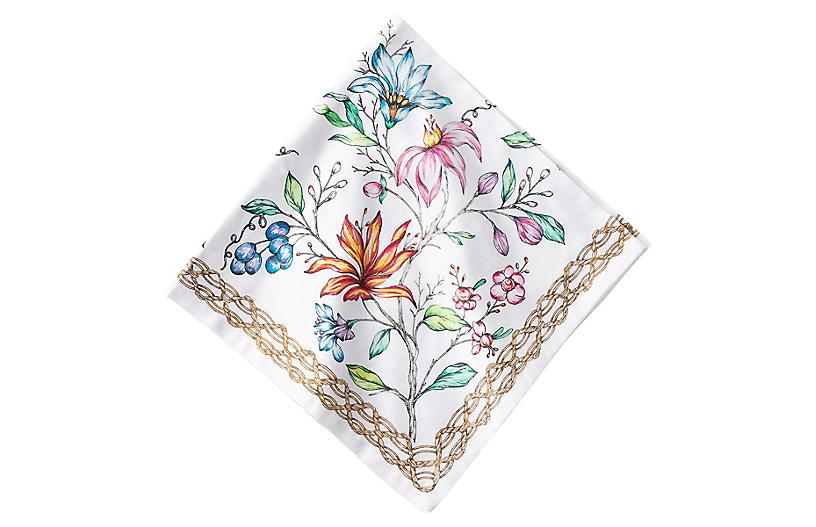 Floretta Napkin, White/Multi