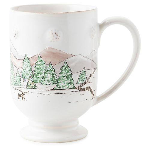 Berry & Thread Mug, White/Multi