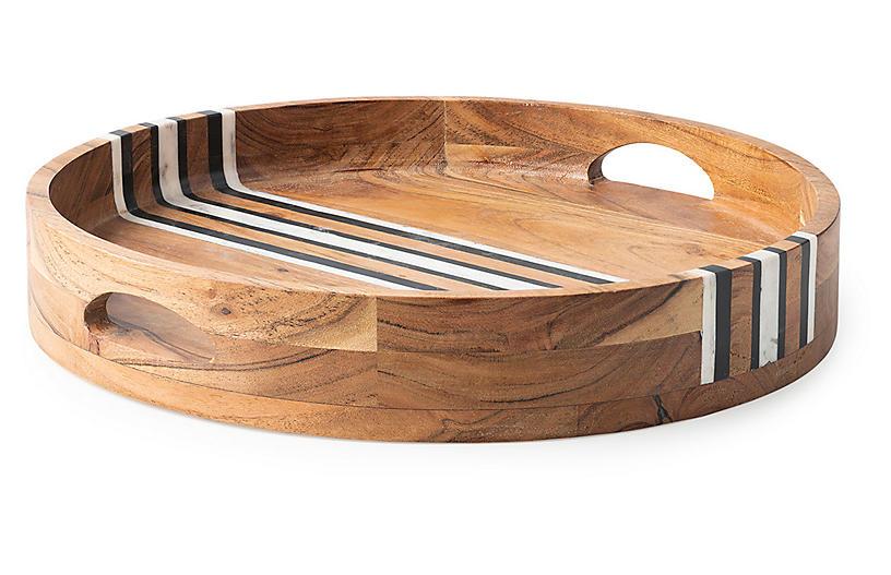 Stonewood Round Tray, Natural