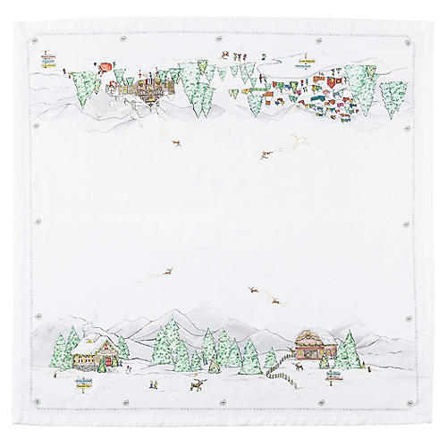 Berry & Thread North Pole Napkin, White/Multi