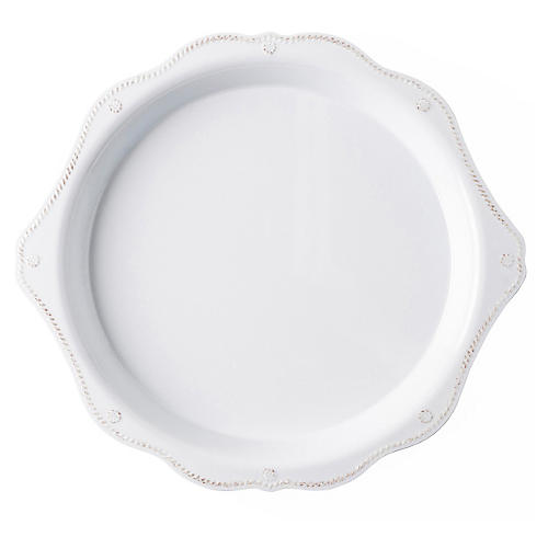 Berry & Thread Melamine Round Platter, White