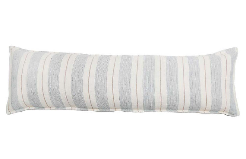 Laguna 18x60 Body Pillow, Ocean/Natural Linen