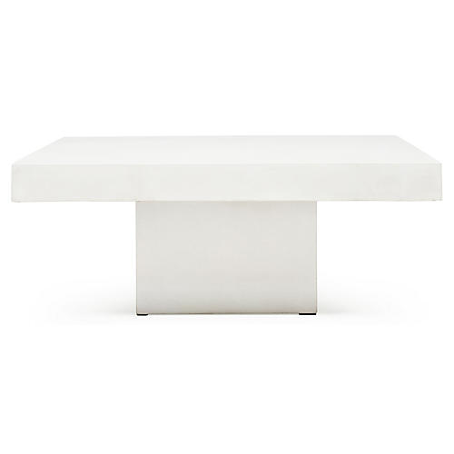 Malena Square Coffee Table, Ivory