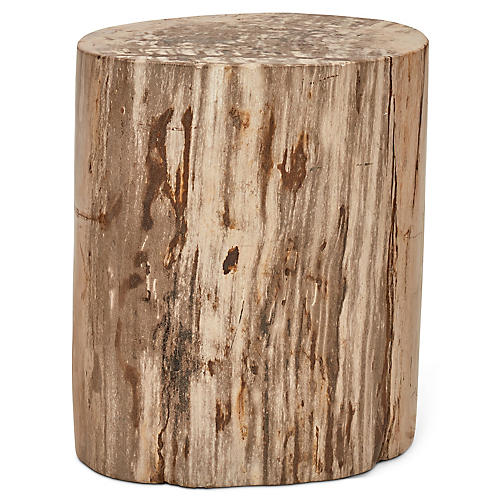 Polished Stump Stool, Light Natural