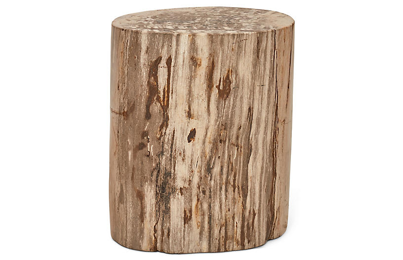Polished Stump Stool, Light Natural