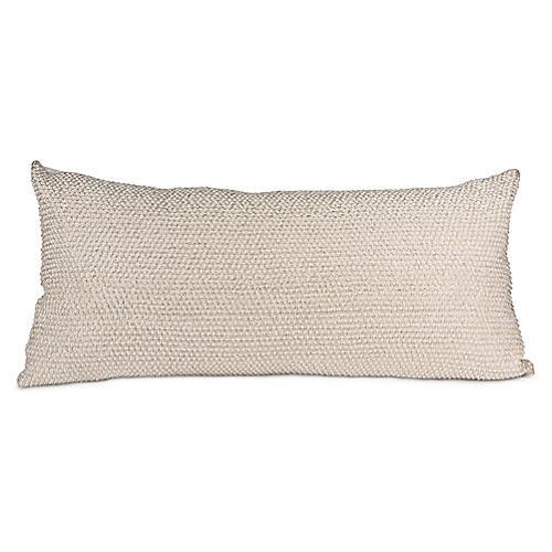 Jaal 14x30 Lumbar Pillow, Silver