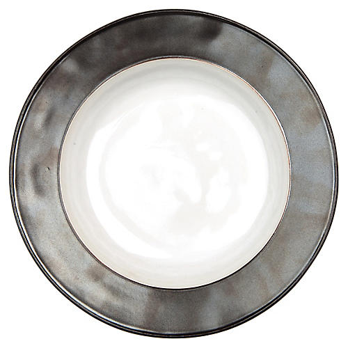 Emerson Pasta Bowl, White/Pewter