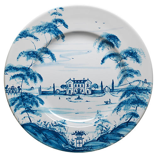 Main House Dinner Plate, Delft Blue